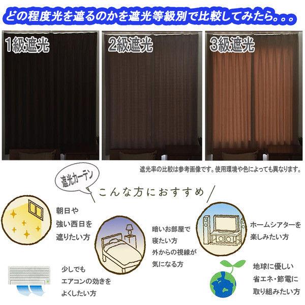 ユニベール 1級遮光ドレープカーテン&ミラーレースカーテンセット 各2枚4枚組 ラスタープラス ミディアムグリーン ドレープ:幅100×丈120cm (直送品)