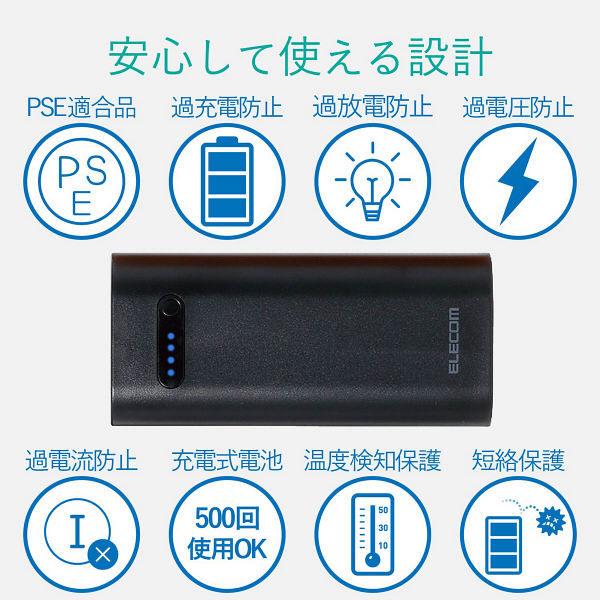 エレコムモバイルバッテリー6400mAh