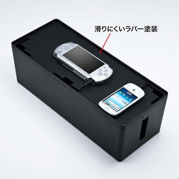 サンワサプライ ケーブル&タップ収納ボックス CB-BOXP3BKN2 (直送品)