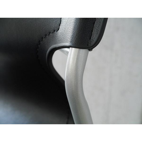 ガルト ミーティングチェア C-2307 BK ブラック 23000001 1脚 (直送品)
