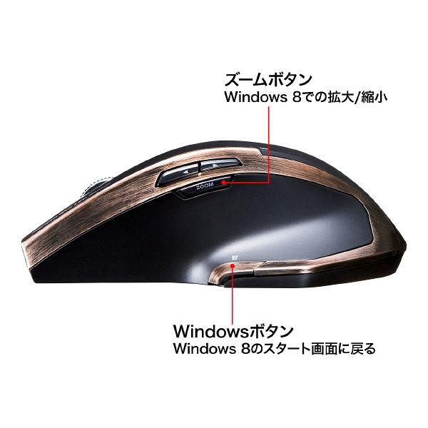 サンワサプライ 無線(ワイヤレス)マウス ブラック ブルーLED方式/8ボタン MA-WBL34BK (直送品)