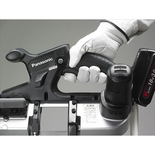 パナソニック Panasonic 【DUAL】 充電バンドソー(14.4V/18V両用) 5.0Ah予備電池付 ブラック EZ45A5LJ2G-B (直送品)