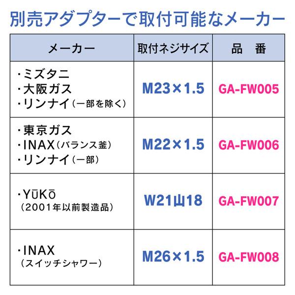ヤータモン・カーチス シャワーヘッドとホースのセット グローエ (空気取込み構造 3段切替 マッサージ ホース1.6m) GA-FH007 (直送品)