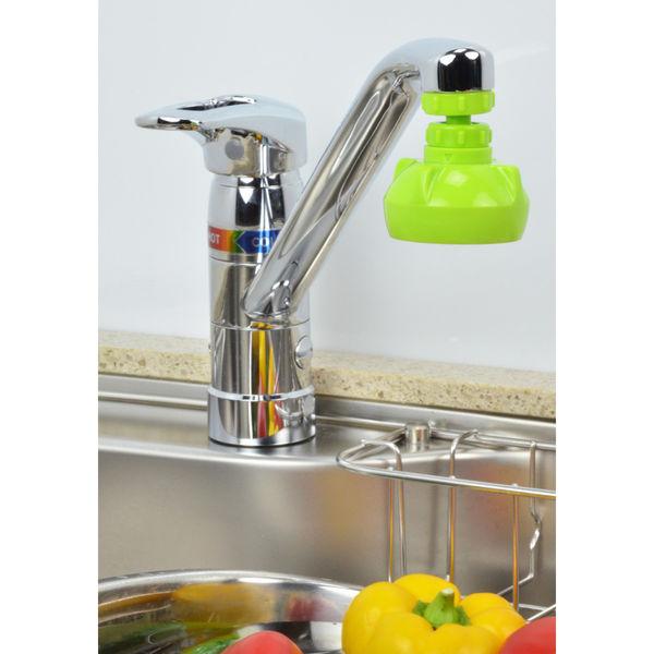 ガオナ キッチンシャワー 首振り式 (泡沫吐水・シャワー切替 節水 掃除も簡単 グリーン) GA-HK003 (直送品)