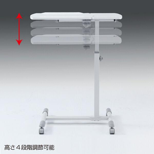 サンワサプライ ノートパソコンデスク(白) 幅700×奥行450×高さ700・760・820・880mm NPC-10W (直送品)
