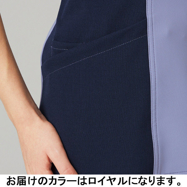 フォーク CHEROKEE(チェロキー) 医療白衣 スクラブ CH750 ロイヤル L 1枚 (直送品)