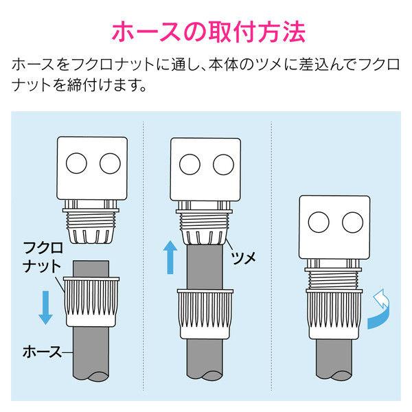 カクダイ ホーセンド付き散水ホース2m(シルバー) GA-QD012 (直送品)