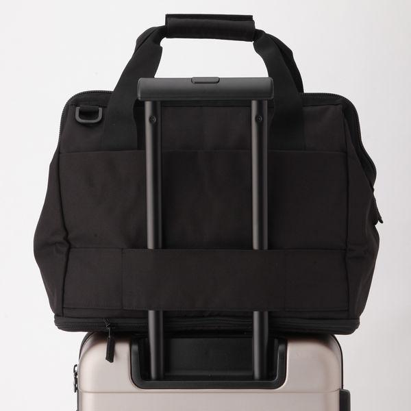 無印 荷物の量で広げられるボストンバッグ
