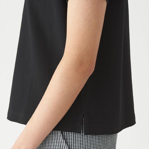 無印天竺編みワイドTシャツ半袖婦人M~L