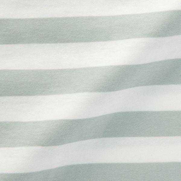 無印 天竺編ボーダー半袖Tシャツ 140