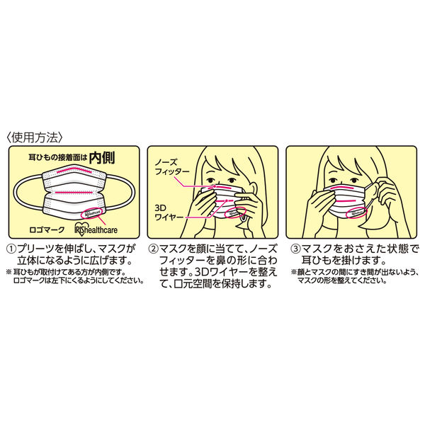 アイリスオーヤマ安心・清潔マスク3
