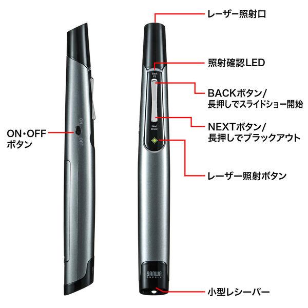 サンワサプライ グリーンパワーポインター LP-RFG110GM 1個 (直送品)