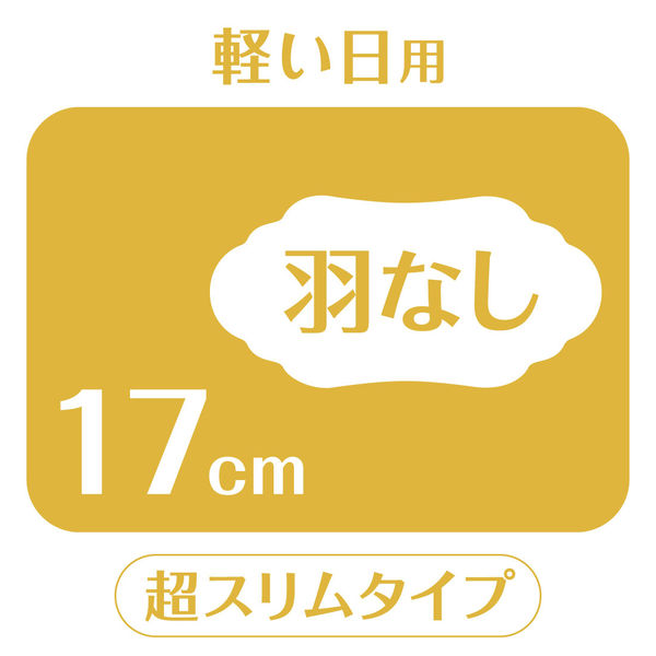 素肌のきもち 羽なし 17cm×3