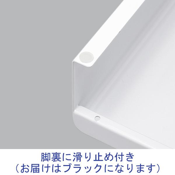 サンワサプライ 電源タップ+USBポート付き机上ラック 奥行200mm 黒 MR-LC202BK