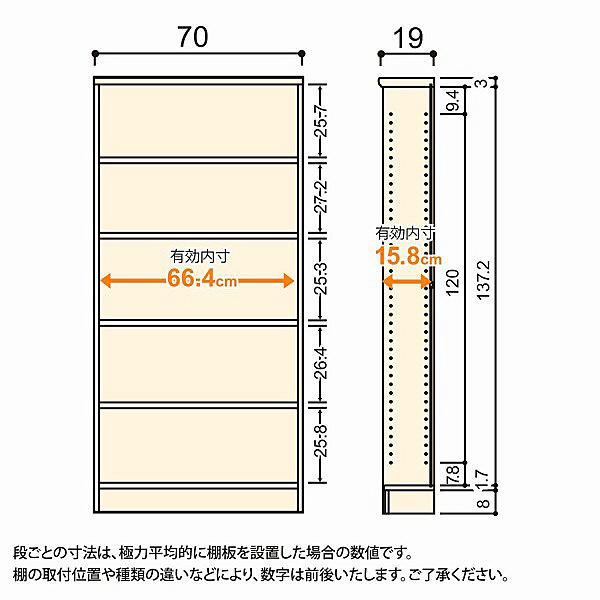 大洋 Shelfit(シェルフィット) エースラック/カラーラックS 幅700×奥行190×高さ1499mm ナチュラル 1台 (取寄品)