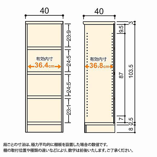 大洋 Shelfit(シェルフィット) エースラック/カラーラックM タフタイプ 幅400×奥行400×高さ1170mm ナチュラル 1台 (取寄品)