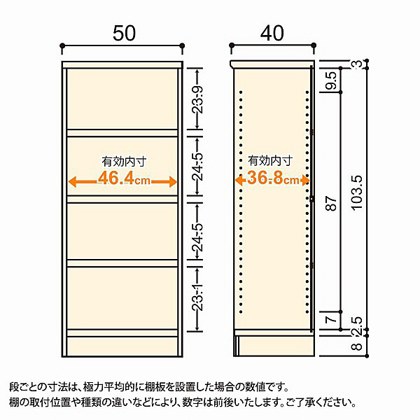 大洋 Shelfit(シェルフィット) エースラック/カラーラックM タフタイプ 幅500×奥行400×高さ1170mm ナチュラル 1台 (取寄品)