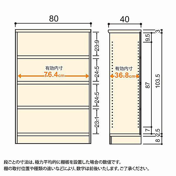 大洋 Shelfit(シェルフィット) エースラック/カラーラックM タフタイプ 幅800×奥行400×高さ1170mm ナチュラル 1台 (取寄品)