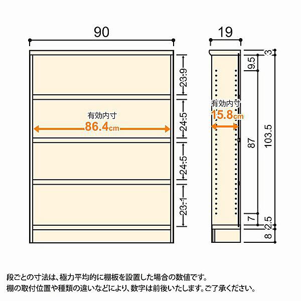 大洋 Shelfit(シェルフィット) エースラック/カラーラックS タフタイプ 幅900×奥行190×高さ1170mm ナチュラル 1台 (取寄品)