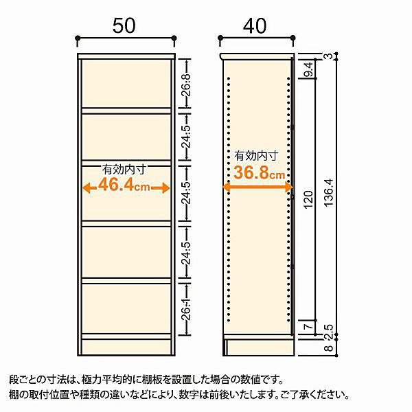 大洋 Shelfit(シェルフィット) エースラック/カラーラックM タフタイプ 幅500×奥行400×高さ1499mm ナチュラル 1台 (取寄品)