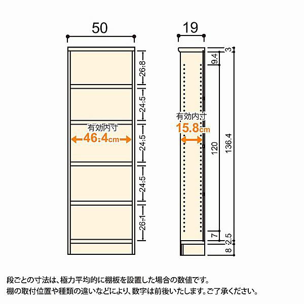 大洋 Shelfit(シェルフィット) エースラック/カラーラックS タフタイプ 幅500×奥行190×高さ1499mm ナチュラル 1台 (取寄品)