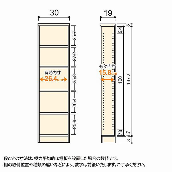 大洋 Shelfit(シェルフィット) エースラック/カラーラックS 幅300×奥行190×高さ1170mm ライトナチュラル 1台 (取寄品)