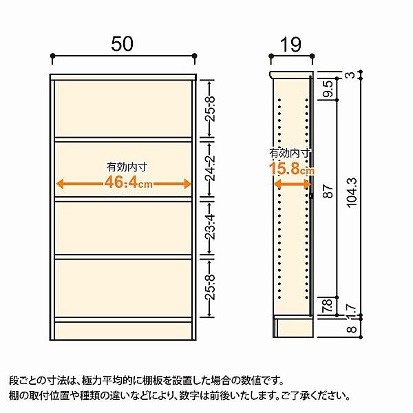 大洋 Shelfit(シェルフィット) エースラック/カラーラックS 幅500×奥行190×高さ1170mm ホワイト 1台 (取寄品)