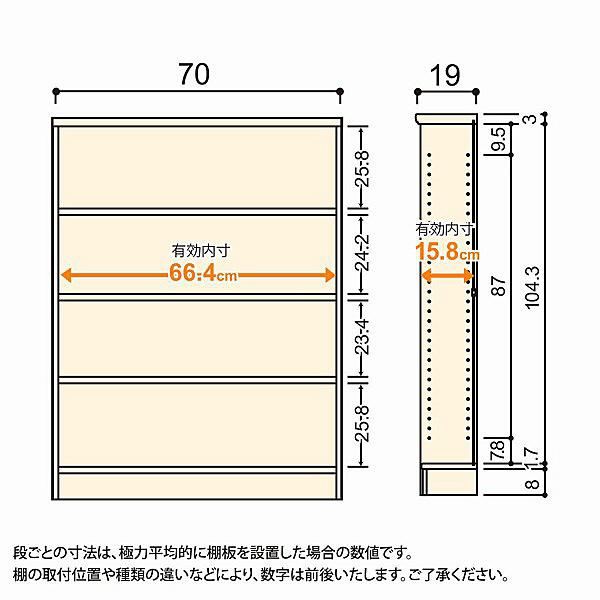 大洋 Shelfit(シェルフィット) エースラック/カラーラックS 幅700×奥行190×高さ1170mm ライトナチュラル 1台 (取寄品)