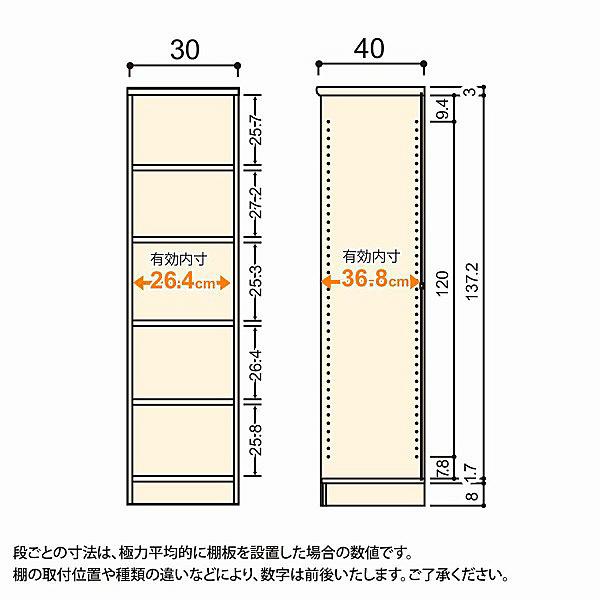 大洋 Shelfit(シェルフィット) エースラック/カラーラックM 幅300×奥行400×高さ1499mm ホワイト 1台 (取寄品)