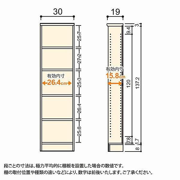 大洋 Shelfit(シェルフィット) エースラック/カラーラックS 幅300×奥行190×高さ1499mm ダークブラウン 1台 (取寄品)