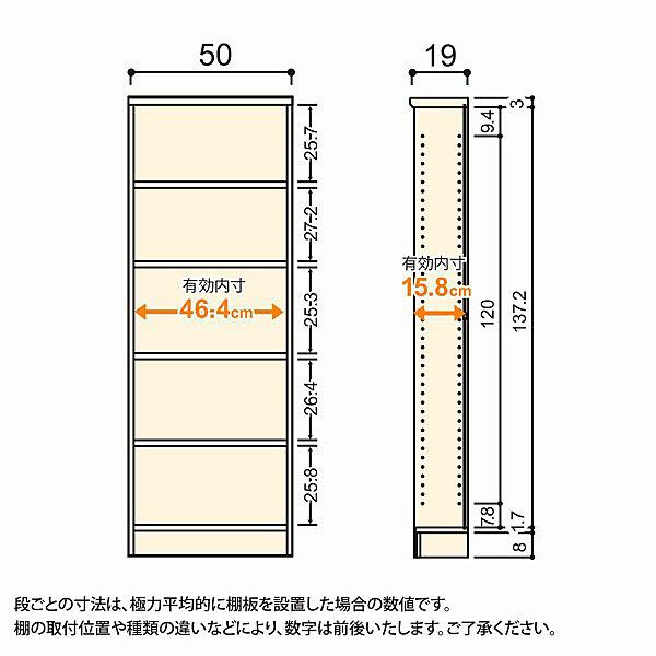 大洋 Shelfit(シェルフィット) エースラック/カラーラックS 幅500×奥行190×高さ1499mm ライトナチュラル 1台 (取寄品)