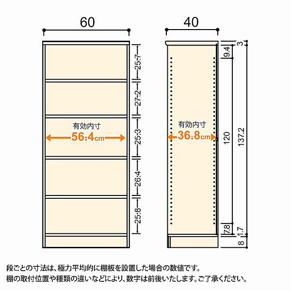 大洋 Shelfit(シェルフィット) エースラック/カラーラックM 幅600×奥行400×高さ1499mm ライトナチュラル 1台 (取寄品)