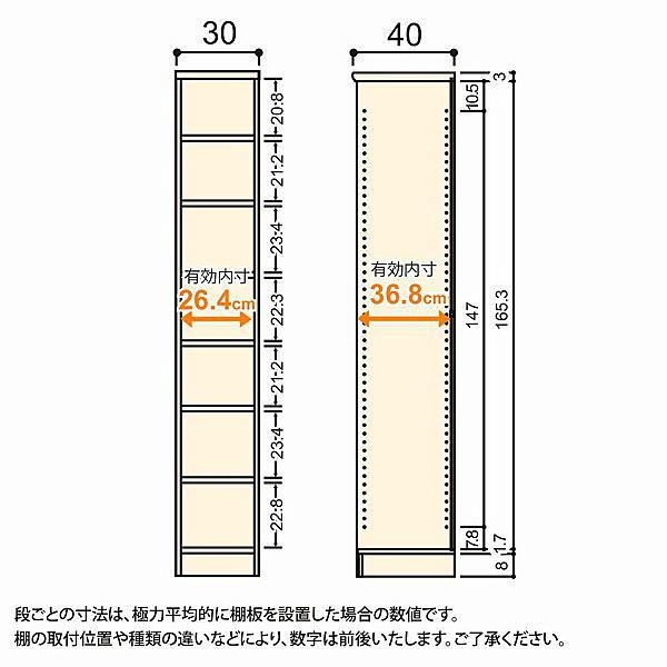 大洋 Shelfit(シェルフィット) エースラック/カラーラックM 幅300×奥行400×高さ1780mm ホワイト 1台 (取寄品)