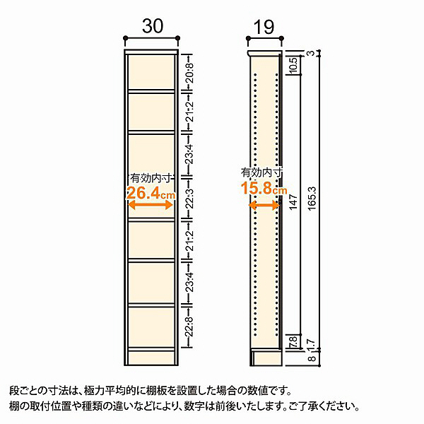 大洋 Shelfit(シェルフィット) エースラック/カラーラックS 幅300×奥行190×高さ1780mm ダークブラウン 1台 (取寄品)