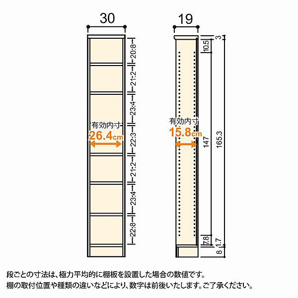 大洋 Shelfit(シェルフィット) エースラック/カラーラックS 幅300×奥行190×高さ1780mm ホワイト 1台 (取寄品)