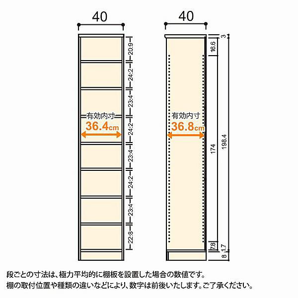 大洋 Shelfit(シェルフィット) エースラック/カラーラックM 幅400×奥行400×高さ2111mm ダークブラウン 1台 (取寄品)
