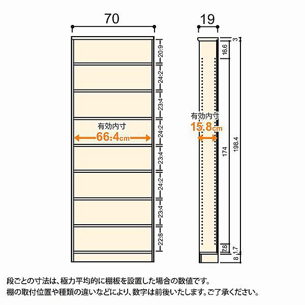 大洋 Shelfit(シェルフィット) エースラック/カラーラックS 幅700×奥行190×高さ2111mm ホワイト 1台 (取寄品)