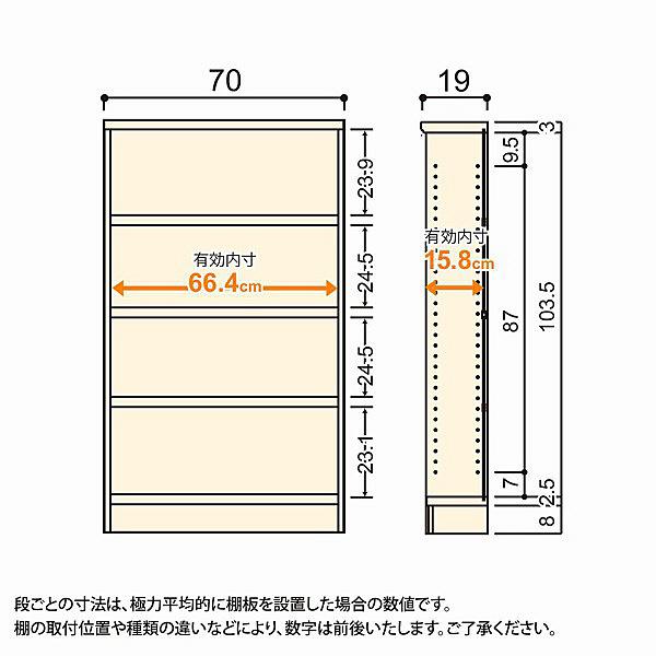 大洋 Shelfit(シェルフィット) エースラック/カラーラックS タフタイプ 幅700×奥行190×高さ1170mm ライトナチュラル 1台 (取寄品)