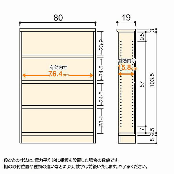 大洋 Shelfit(シェルフィット) エースラック/カラーラックS タフタイプ 幅800×奥行190×高さ1170mm ライトナチュラル 1台 (取寄品)
