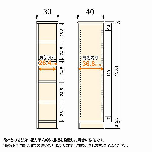 大洋 Shelfit(シェルフィット) エースラック/カラーラックM タフタイプ 幅300×奥行400×高さ1499mm ライトナチュラル 1台 (取寄品)