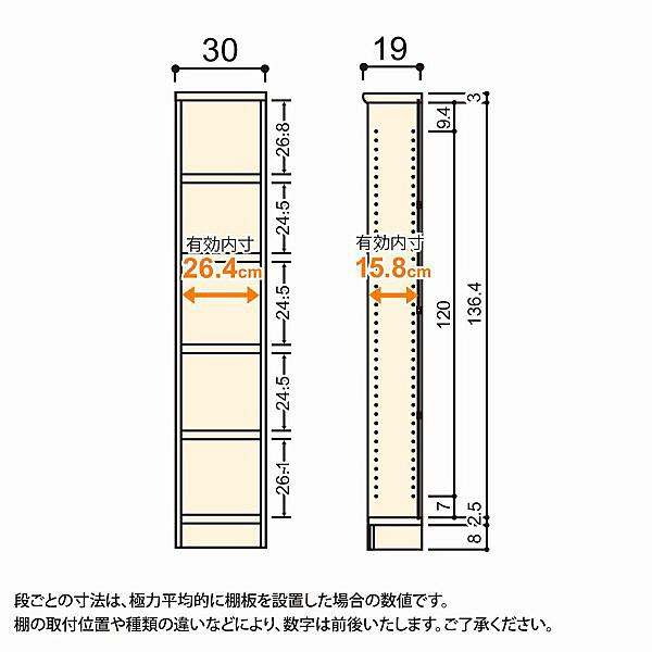 大洋 Shelfit(シェルフィット) エースラック/カラーラックS タフタイプ 幅300×奥行190×高さ1499mm ダークブラウン 1台 (取寄品)