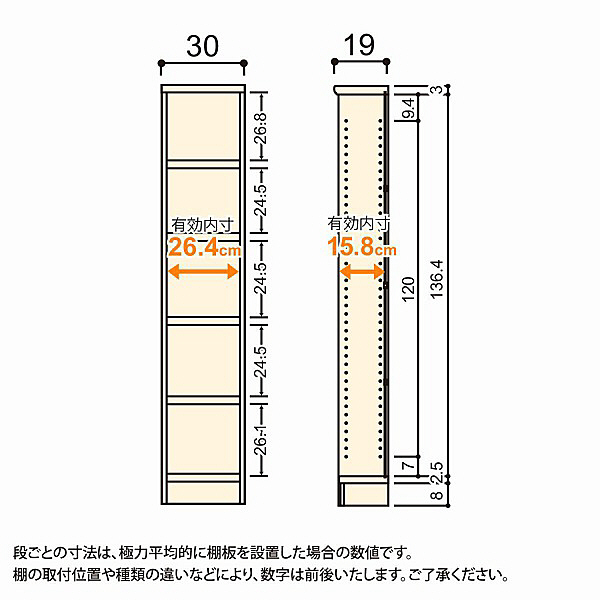 大洋 Shelfit(シェルフィット) エースラック/カラーラックS タフタイプ 幅300×奥行190×高さ1499mm ホワイト 1台 (取寄品)