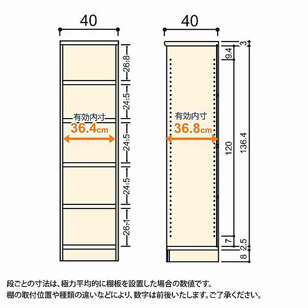 大洋 Shelfit(シェルフィット) エースラック/カラーラックM タフタイプ 幅400×奥行400×高さ1499mm ライトナチュラル 1台 (取寄品)