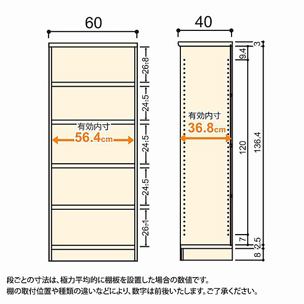 大洋 Shelfit(シェルフィット) エースラック/カラーラックM タフタイプ 幅600×奥行400×高さ1499mm ダークブラウン 1台 (取寄品)