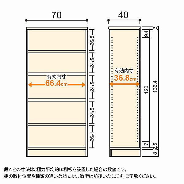 大洋 Shelfit(シェルフィット) エースラック/カラーラックM タフタイプ 幅700×奥行400×高さ1499mm ブラウン 1台 (取寄品)