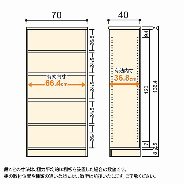 大洋 Shelfit(シェルフィット) エースラック/カラーラックM タフタイプ 幅700×奥行400×高さ1499mm ライトナチュラル 1台 (取寄品)
