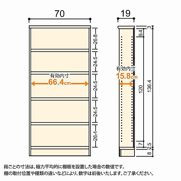 大洋 Shelfit(シェルフィット) エースラック/カラーラックS タフタイプ 幅700×奥行190×高さ1499mm ブラウン 1台 (取寄品)