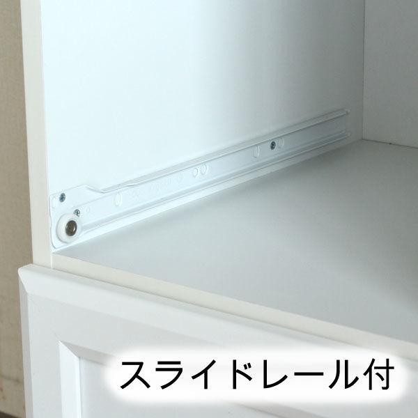 白井産業 台所回りの家電や小物をひとまとめに収納出来るカウンターワゴン 1台 (直送品)
