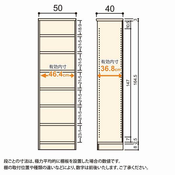 Shelfit(シェルフィット) エースラック/カラーラックM タフタイプ 幅500×奥行400×高さ1780mm ホワイト 1台(2梱包) (取寄品)