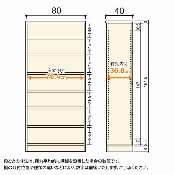 Shelfit(シェルフィット) エースラック/カラーラックM タフタイプ 幅800×奥行400×高さ1780mm ライトナチュラル 1台(2梱包) (取寄品)